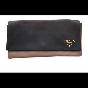 Prada Ombré Leather Clutch